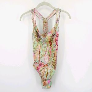 Victoria's Secret Floral Braided One Piece Small
